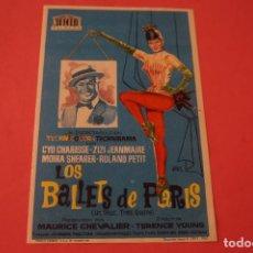 Cine: FOLLETO DE MANO PROGRAMA DE CINE LOS BALLETS DE PARIS SIN PUBLICIDAD LOTE 86 MIRAR FOTOS. Lote 268739079
