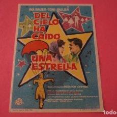 Cine: FOLLETO DE MANO PROGRAMA DE CINE EL CIELO HA CAIDO UNA ESTRELLA SIN PUBLICIDAD LOTE 87 MIRAR FOTOS. Lote 268741344