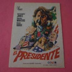 Cine: FOLLETO DE MANO PROGRAMA DE CINE EL PRESIDENTE SIN PUBLICIDAD LOTE 87 MIRAR FOTOS. Lote 268742569