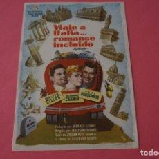 Cine: FOLLETO DE MANO PROGRAMA DE CINE VIAJE A ITALIA...ROMANCE INCLUIDOSIN PUBLICIDAD LOTE 87 MIRAR FOTOS. Lote 268743199