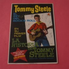 Cine: FOLLETO DE MANO PROGRAMA DE CINE LA HISTORIA DE TOMMY STEELE SIN PUBLICIDAD LOTE 87 MIRAR FOTOS. Lote 268743584