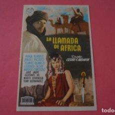 Cine: FOLLETO DE MANO PROGRAMA DE CINE LA LLAMADA DE AFRICA SIN PUBLICIDAD LOTE 87 MIRAR FOTOS. Lote 268743964