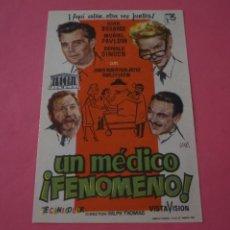 Cine: FOLLETO DE MANO PROGRAMA DE CINE UN MEDICO FENOMENO SIN PUBLICIDAD LOTE 87 MIRAR FOTOS. Lote 268744524