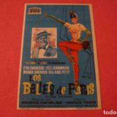 Cine: FOLLETO DE MANO PROGRAMA DE CINE LOS BALLETS DE PARIS SIN PUBLICIDAD LOTE 87 MIRAR FOTOS. Lote 268745094