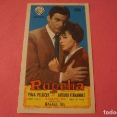 Cine: FOLLETO DE MANO PROGRAMA DE CINE ROGELIA SIN PUBLICIDAD LOTE 87 MIRAR FOTOS. Lote 268745284