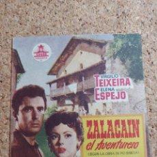 Folhetos de mão de filmes antigos de cinema: FOLLETO DE MANO DOBLE DE LA PELÍCULA ZALACAIN EL AVENTURERO. Lote 268826674
