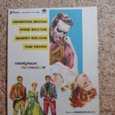 Folhetos de mão de filmes antigos de cinema: FOLLETO DE MANO DE LA PELÍCULA LA LEY DE LOS FUERTES. Lote 268854294