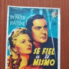 Cine: SEFIEL A TI MISMO (CON PUBLICIDAD). Lote 268858894