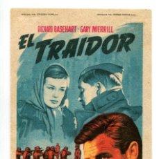 Cine: EL TRAIDOR, CON RICHARD BASEHART.. Lote 268952664