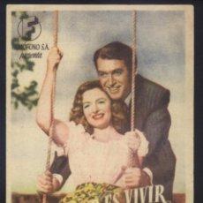 Cine: P-9395- QUE BELLO ES VIVIR (IT'S A WONDERFUL LIFE) (CINE MORAN - PONFERRADA) JAMES STEWART. Lote 268959144