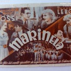 Cine: MARIANELA ,COMITÉ EJECUTIVO DE ESPECTÁCULOS PÚBLICOS UGT ,CNT VALENCIA , GUERRA CIVIL. Lote 268964119