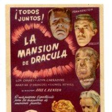Cine: LA MANSIÓN DE DRÁCULA, CON LON CHANEY.. Lote 268998434