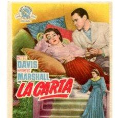 Cine: LA CARTA, CON BETTE DAVIS.. Lote 269000674