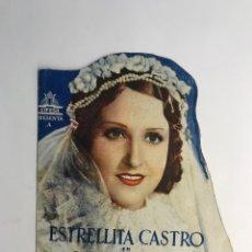 Cine: CINE. FOLLETO DE MANO TROQUELADO. ESTRELLITA CASTRO. LA GITANILLA, MIGUEL DE CERVANTES CIFESA. Lote 269006204