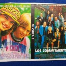 Cine: 2 FOLLETOS O PROGRAMAS DE MANO. MI CHICA 2 Y LOS COMMITMENTS. Lote 269126508