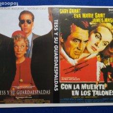 Cine: 2 FOLLETOS O PROGRAMAS DE MANO. TESIS Y SU GUARDAESPALDAS Y CON LA MUERTE EN LOS TALONES. Lote 269145098