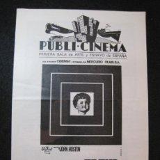 Folhetos de mão de filmes antigos de cinema: FREUD-MONTGOMERY CLIFT-PUBLI CINEMA-GUIA PROGRAMA DE CINE-VER FOTOS-(K-3279). Lote 269148718