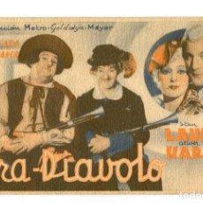 Cine: FRA- DIÁVOLO, CON STAN LAUREL Y OLIVER HARDY.. Lote 269166538
