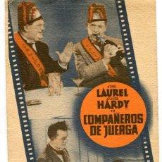 Cine: COMPAÑEROS DE JUERGA, CON STAN LAUREL Y OLIVER HARDY.. Lote 269167118