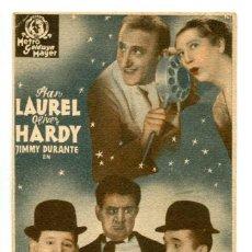 Cine: UNA FIESTA EN HOLLYWOOD CON STAN LAUREL Y OLIVER HARDY.. Lote 269167633