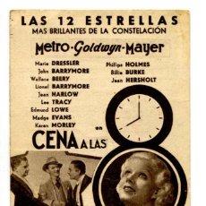 Cine: CENA A LAS 8, CON JEAN HARLOW.. Lote 269171823