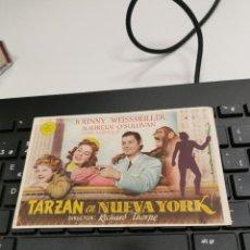 Cine: PROGRAMA DE MANO ORIG - TARZAN EN NUEVA YORK - CON CINE DE LA CANONJA IMPRESO AL DORSO. Lote 269186688