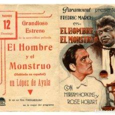 Cine: EL HOMBRE Y EL MONSTRUO, CON FREDRIC MARCH.. Lote 269189198