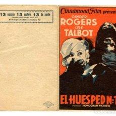 Cine: EL HUESPED Nº 13, CON GINGER ROGERS.. Lote 269190963