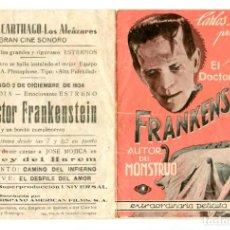 Cine: EL DOCTOR FRANKENSTEIN, CON BORIS KARLOFF.. Lote 269192188