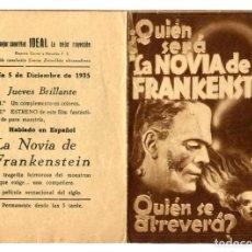 Cine: LA NOVIA DE FRANKENSTEIN, CON BORIS KARLOFF.. Lote 269192733