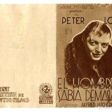 Cine: EL HOMBRE QUE SABÍA DEMASIADO, CON PETER LORRE.. Lote 269194888