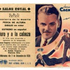 Cine: DURO Y A LA CABEZA, CON JAMES CAGNEY.. Lote 269229243