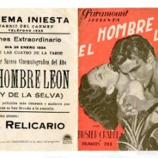 Cine: EL HOMBRE LEÓN, CON BUSTER CRABBE.. Lote 269247328