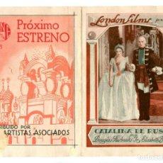 Cine: CATALINA DE RUSIA, CON DOUGLAS FAIRBANKS JR... Lote 269249818