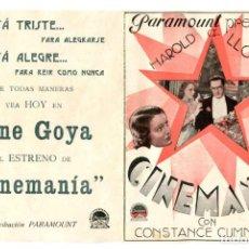 Cine: CINEMANÍA, CON HAROLD LLOYD.. Lote 269250858