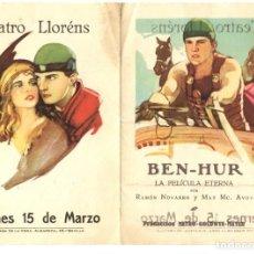Cine: BEN-HUR, CON RAMÓN NOVARRO.. Lote 269257043