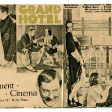 Cine: GRAND HOTEL, CON GRETA GARBO.. Lote 269317368