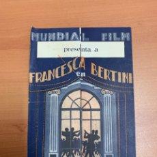 """Cine: FOLLETO DE CINE ANTIGUO """"EL FIN DE MONTECARLO""""1927.MUNDIAL FILM.. Lote 269373873"""