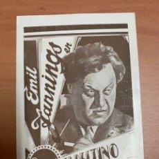 """Cine: FOLLETO DE CINE ANTIGUO """"EL DESTINO DE LA CARNE """". 1927. PARAMOUNT.. Lote 269379793"""