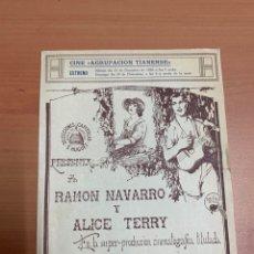 """Cine: FOLLETO DE CINE ANTIGUO """"EL PESCADOR DE PERLAS"""". CINE MUDO 1928.. Lote 269404213"""