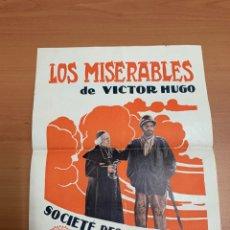 """Cine: FOLLETO DE CINE ANTIGUO """"LOS MISERABLES"""" DE VÍCTOR HUGO.. Lote 269405658"""