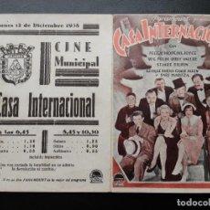 Cine: CASA INTERNACIONAL, W.C. FIELDS, PARAMOUNT AÑOS 30. Lote 269440828