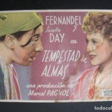 Cine: TEMPESTAD DE ALMAS, FERNANDEL, CINEMA VIÑES DE LERIDA. Lote 269575603