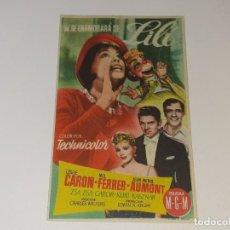 Cine: ANTIGUO PROGRAMA DE CINE LILI - LESLIE CARON - CINE LIRICO VALENCIA AÑO 1954. Lote 269588533