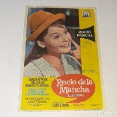 Cine: ANTIGUO PROGRAMA DE CINE ROCIO DE LA MANCHA - ROCIO DURCAL - CINE MUSICAL - VALENCIA AÑO 1963. Lote 269589973