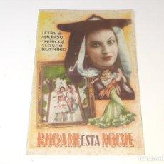 Cine: ANTIGUO PROGRAMA DE TEATRO ROBAME ESTA NOCHE TEATRO RUZAFA REVISTA ESPAÑOLA VALENCIA AÑOS 40. Lote 269593718