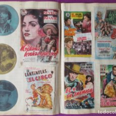 Cine: LOTE 502 PROGRAMAS DE CINE PROGRAMA MANO PEGADOS EN LIBRO + 39 CROMOS. Lote 269606453
