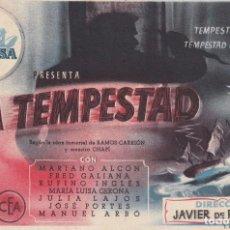 Cine: LA TEMPESTAD .- MARIANO ALCON. Lote 269607548