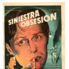 Cine: SINIESTRA OBSESIÓN, CON RICHARD WIDMARK.. Lote 269648103