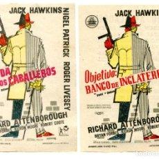 Cine: LA BANDA DE LOS CABALLEROS Y OBJETIVO: BANCO DE INGLATERRA, CON JACK HAWKINS.. Lote 269649483